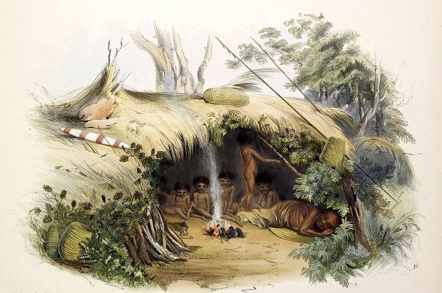 South Australia Illustrated - Native encampment at Portland Bay
