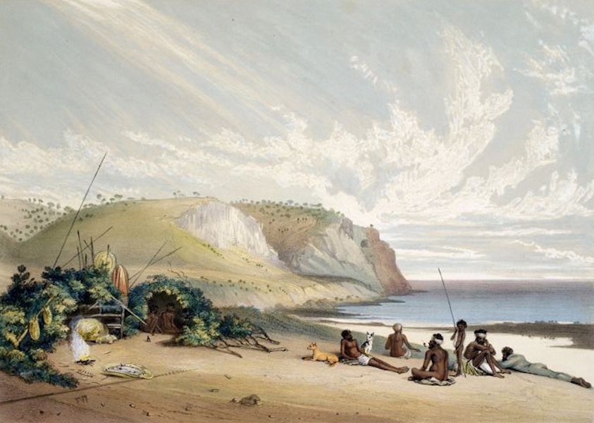 South Australia Illustrated - Rapid Bay Encampment of Yankallillah Blacks (1847)