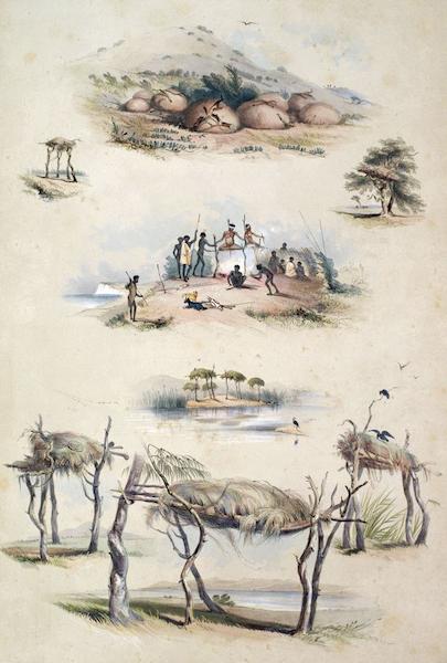 South Australia Illustrated - The Aboriginal Inhabitants Native Tombs (1847)