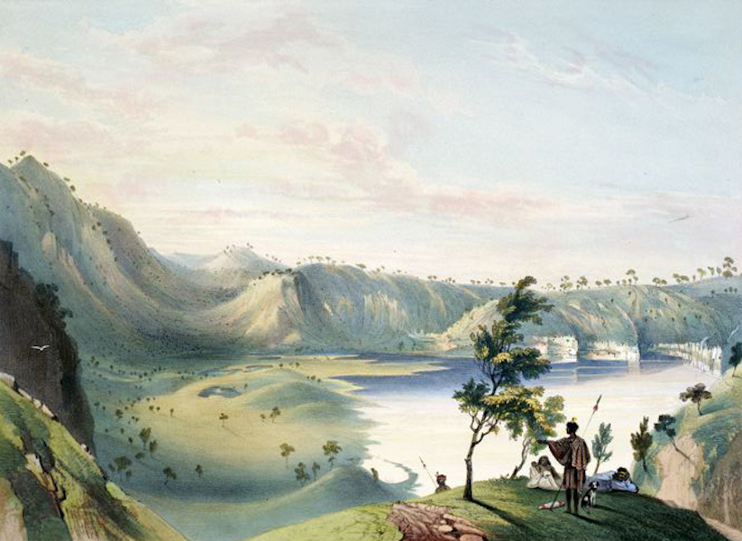 South Australia Illustrated - Interior of the principal Crater of Mount Gambier (1847)