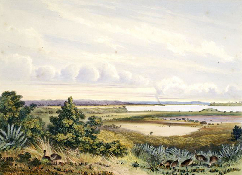 South Australia Illustrated - The Golwa, with part of Hindmarsh Island Mt Barker & Mt Magnificent in the distance (1847)