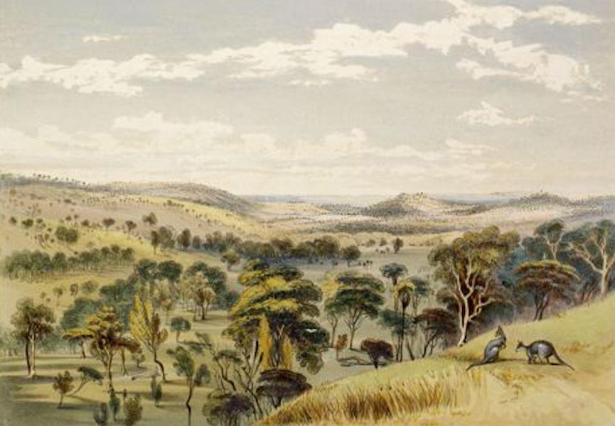 South Australia Illustrated - On the Barrossa Surveys, looking north, towards German Pass (1847)