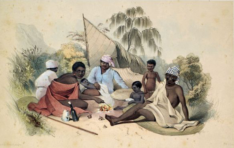 South Australia Illustrated - Encampment of Native Women, near Cape Jervis (1847)