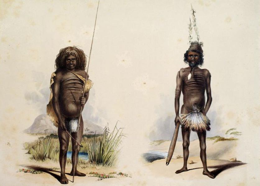 South Australia Illustrated - The Aboriginal Inhabitants: Mintalta amp;& Tyilkilli (1847)