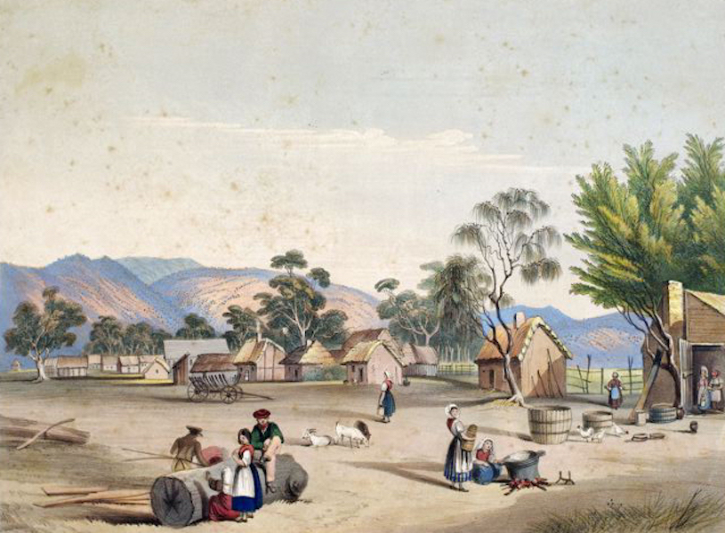 South Australia Illustrated - Bethany A village of German Settlers at the foot of the Barossa Hills (1847)