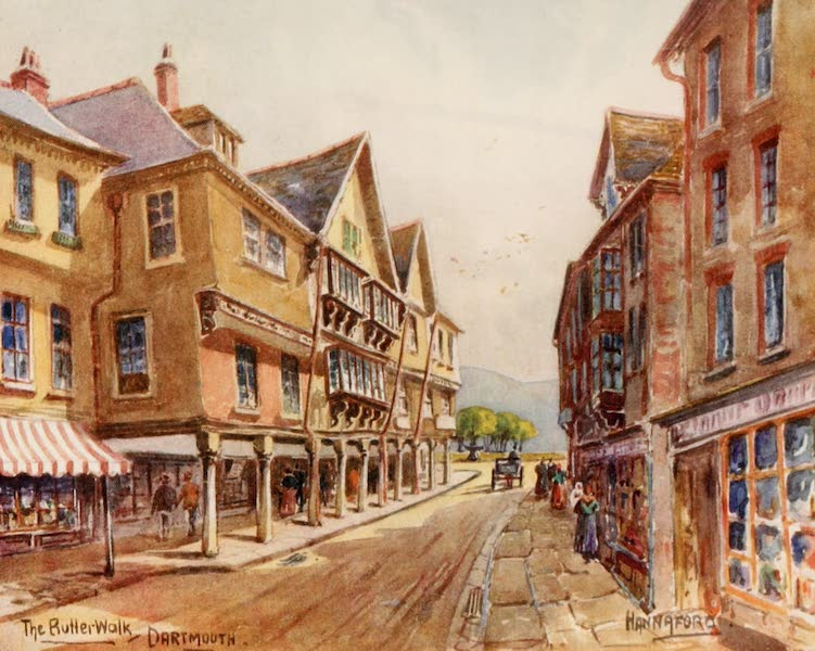 South Devon Painted and Described - The Butterwalk, Dartmouth (1907)
