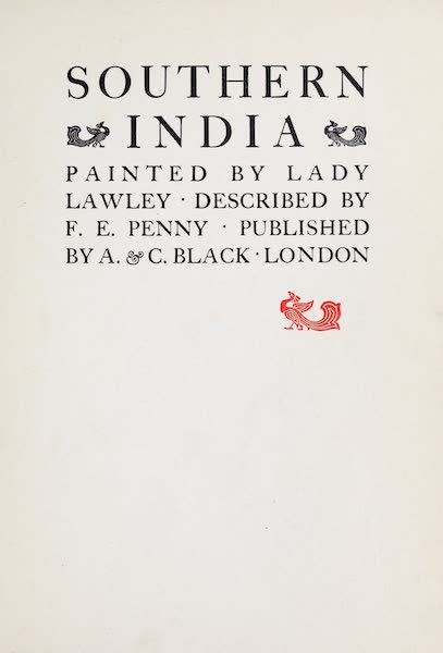 Southern India, Painted and Described - Title Page (1914)