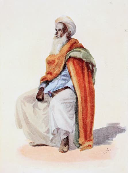 Southern India, Painted and Described - A Khazi (Qazi), Muhammadan Magistrate (1914)