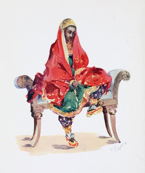 Southern India, Painted and Described - The Daughter of a Rich Muhammadan Merchant (1914)