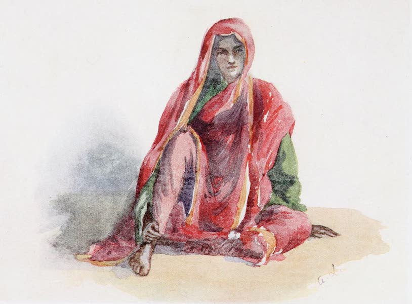 Southern India, Painted and Described - A Slave Girl in a Rich Muhammadan Family (1914)