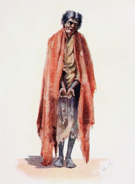 Southern India, Painted and Described - Old Pariah Woman begging (1914)