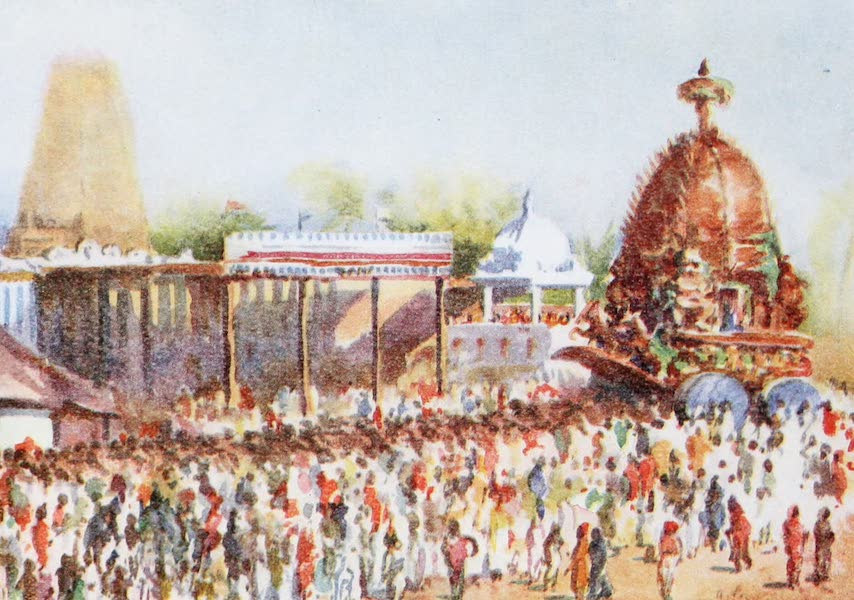 Southern India, Painted and Described - The Car Festival at the Hindu Temple of Myliapore (1914)