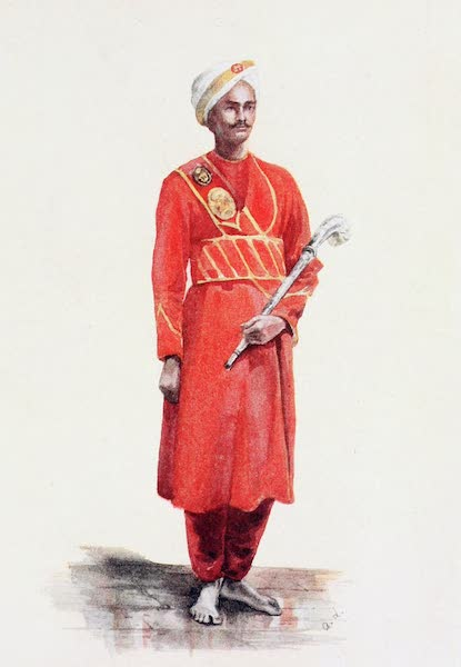 Southern India, Painted and Described - Thomas, Lady Lawley's Personal Peon or Attendant (1914)