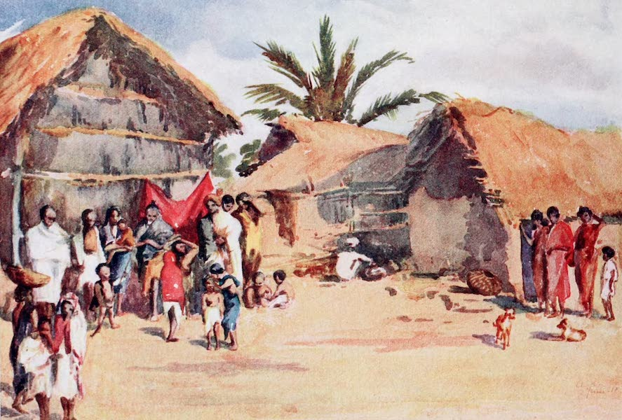 Southern India, Painted and Described - A Village Scene in Kalbundipore, Mysore (1914)