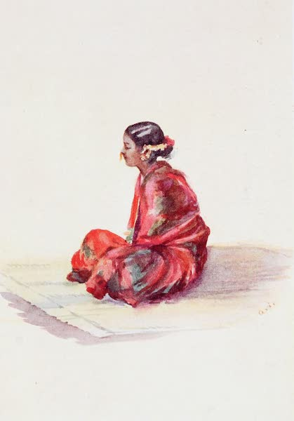 Southern India, Painted and Described - A Tamil Girl dressed for a Visit (1914)