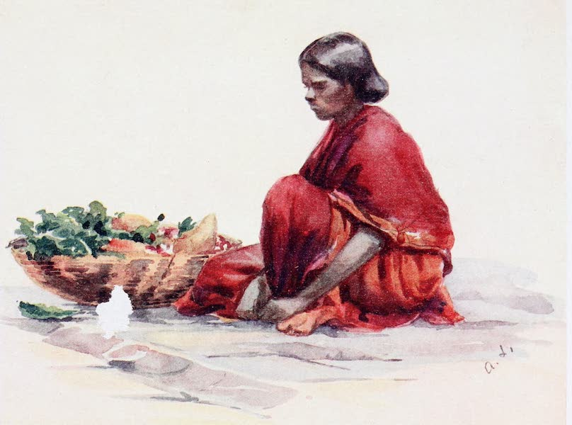 Southern India, Painted and Described - A Pariah Woman (1914)