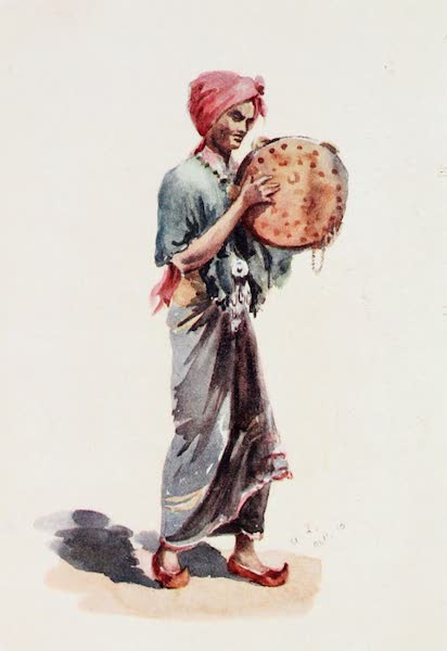 Southern India, Painted and Described - A Hindu Musician with a Cymbal (1914)