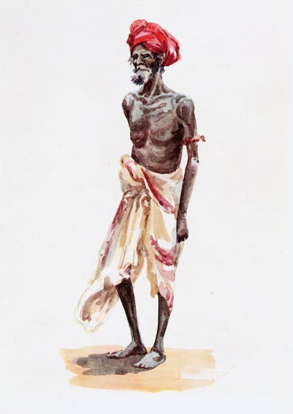 Southern India, Painted and Described - A Man belonging to one of the Forest Tribes of the Western Ghats (1914)