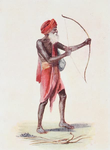 Southern India, Painted and Described - A Hindu, probably of the Bird-Trapper Tribe (1914)