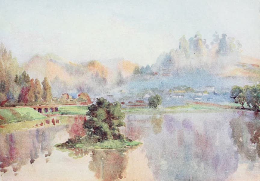 Southern India, Painted and Described - Early Morning on the Lake, Ootacamund (1914)