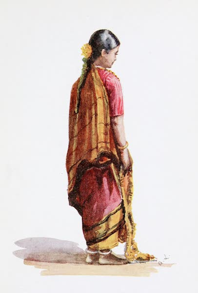 Southern India, Painted and Described - A Mahratta Brahman Girl (1914)