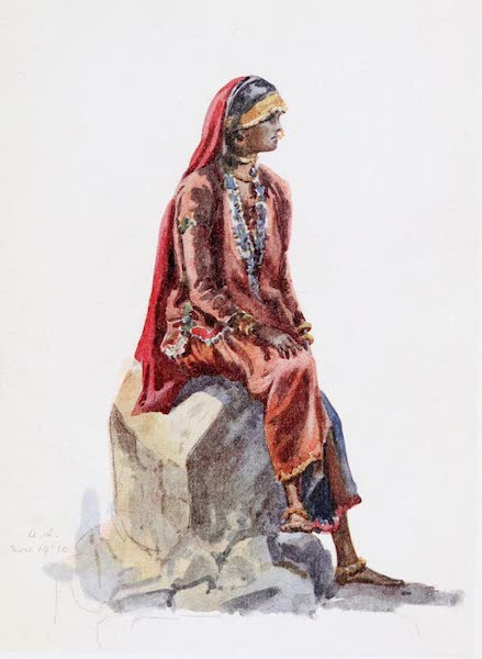 Southern India, Painted and Described - A Woman of the Tribe of Indian Gipsies known as Lumbadi (1914)