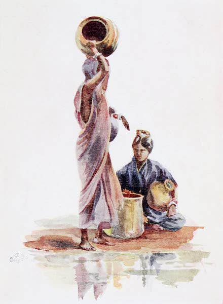 Southern India, Painted and Described - A Canarese Woman drawing Water (1914)