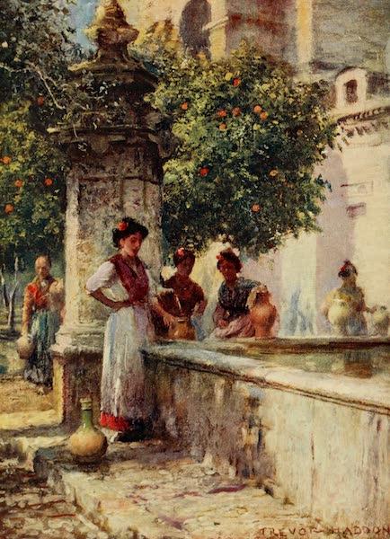 Southern Spain, Painted and Described - Cordova - Fountain in the Patio de los Naranjos (1908)