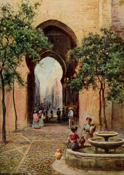 Southern Spain, Painted and Described - Seville - Patio de los Naranjos (1908)