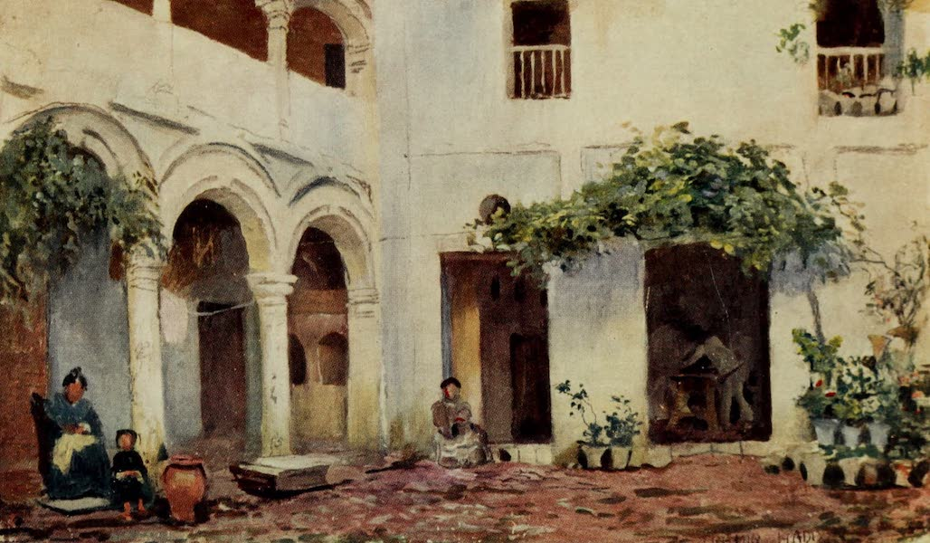 Southern Spain, Painted and Described - Cordova - A Courtyard (1908)
