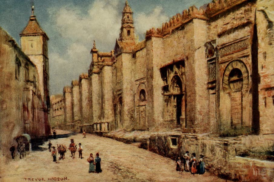 Southern Spain, Painted and Described - Cordova - Outer Wall of the Mosque (1908)