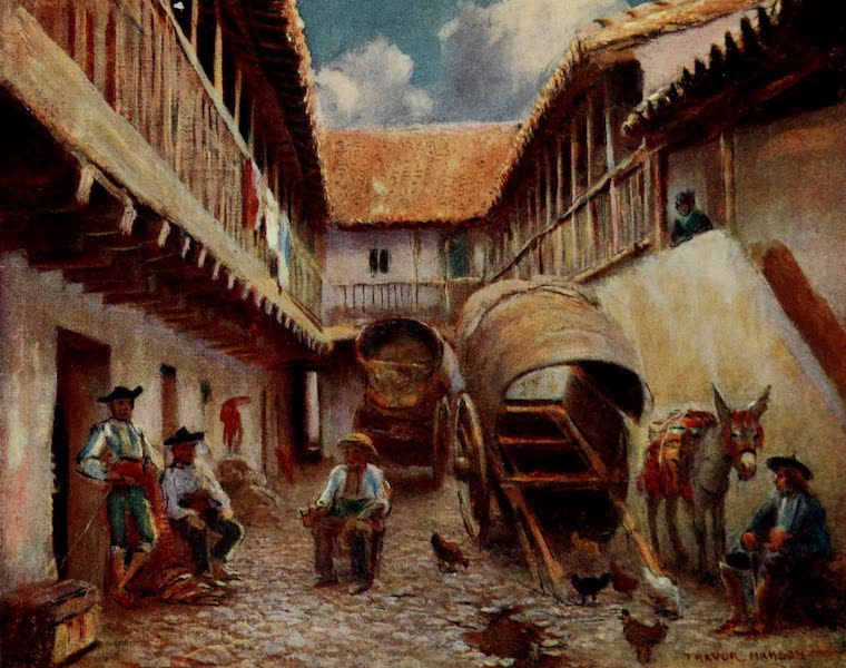 Southern Spain, Painted and Described - Cordova - Courtyard of an Inn (1908)