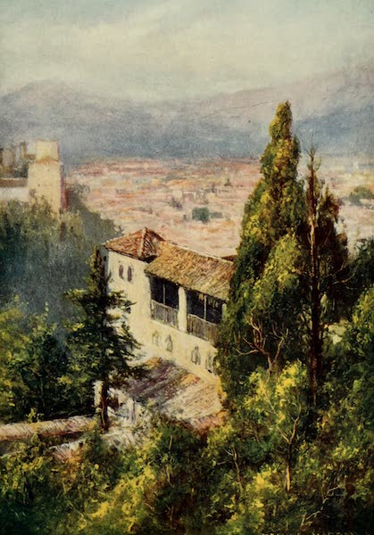 Southern Spain, Painted and Described - Granada - From the Generalife (1908)