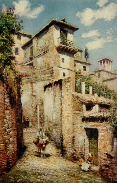 Southern Spain, Painted and Described - Granada - A Street in the Albaicin (1908)