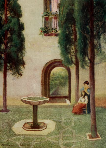 Southern Spain, Painted and Described - Granada - The Court of the Cypresses (1908)