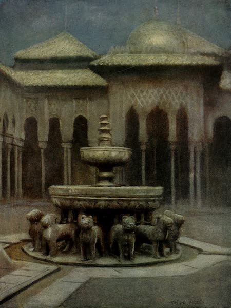 Southern Spain, Painted and Described - Granada - The Court of the Lions : Moonlight (1908)