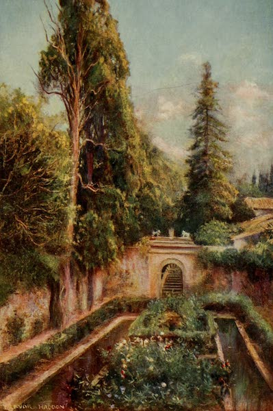 Southern Spain, Painted and Described - Granada - The Generalife : Court of the Cypresses (1908)