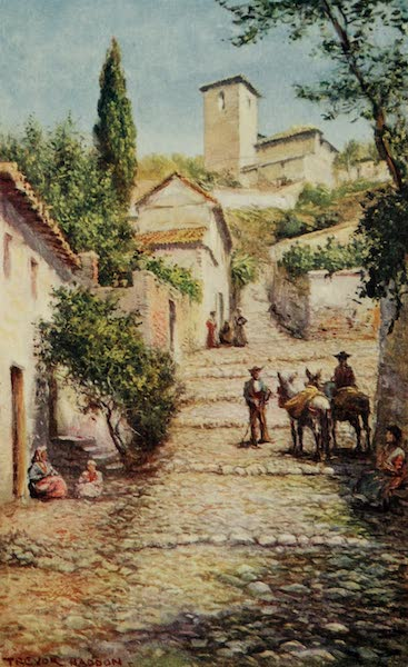 Southern Spain, Painted and Described - Granada - Street in the Old Quarter (1908)