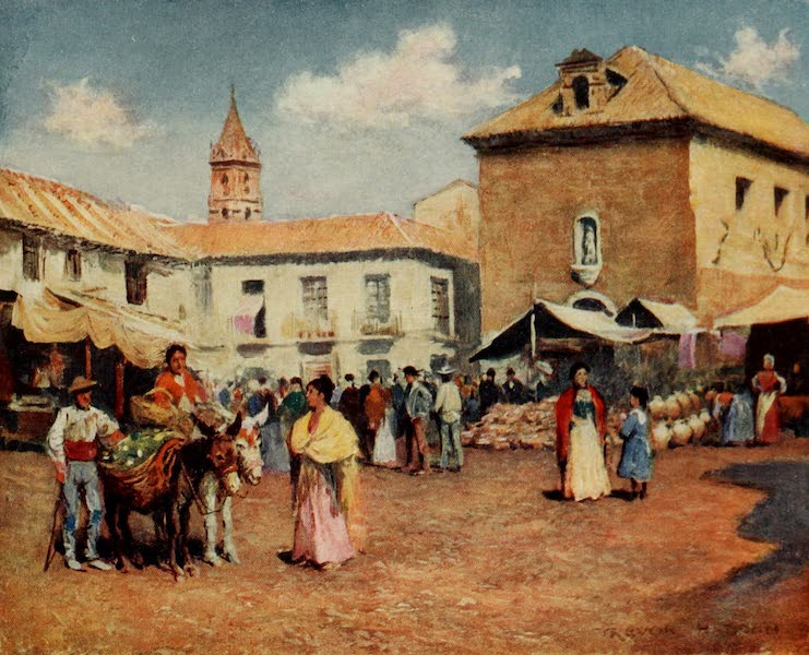 Southern Spain, Painted and Described - Malaga - A Market  (1908)