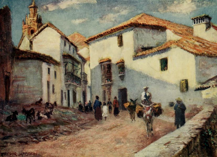 Southern Spain, Painted and Described - Ronda - A Street Scene (1908)
