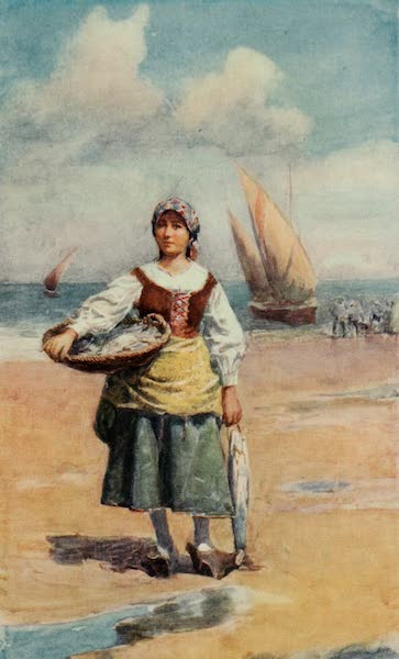 Southern Spain, Painted and Described - A Fisher Girl (Coast of Malaga) (1908)