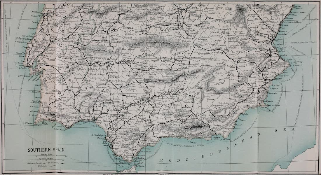 Southern Spain, Painted and Described - Map of Southern Spain (1908)