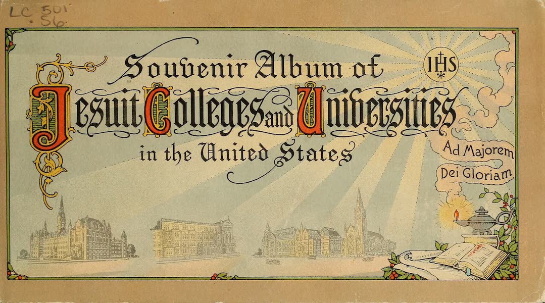 Souvenir Album of Jesuit Colleges and Universities - Front Cover (1918)