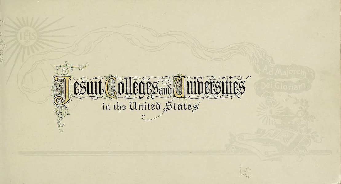 Souvenir Album of Jesuit Colleges and Universities - Title Page (1918)