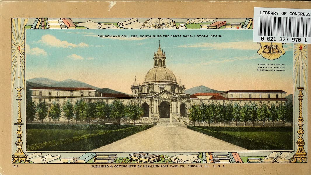 Souvenir Album of Jesuit Colleges and Universities - Back Cover (1918)
