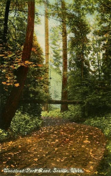 Souvenir Album of Seattle, Washington - Woodland Park, Road, Seattle, Wash. (1900)