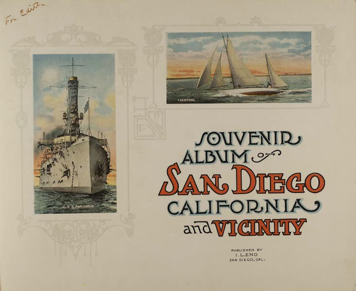 Souvenir from San Diego and Vicinity California - Title Page (1915)