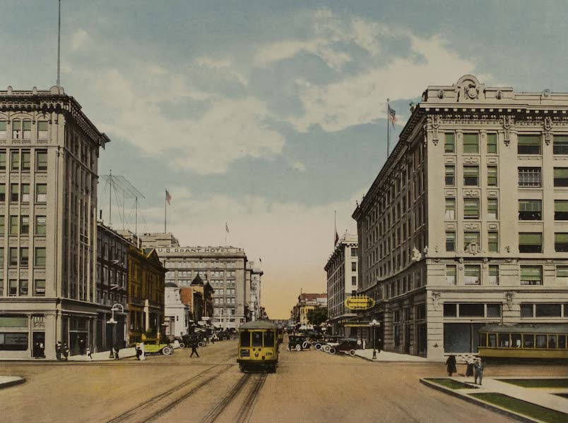 Souvenir from San Diego and Vicinity California - A Scene on Broadway (1915)