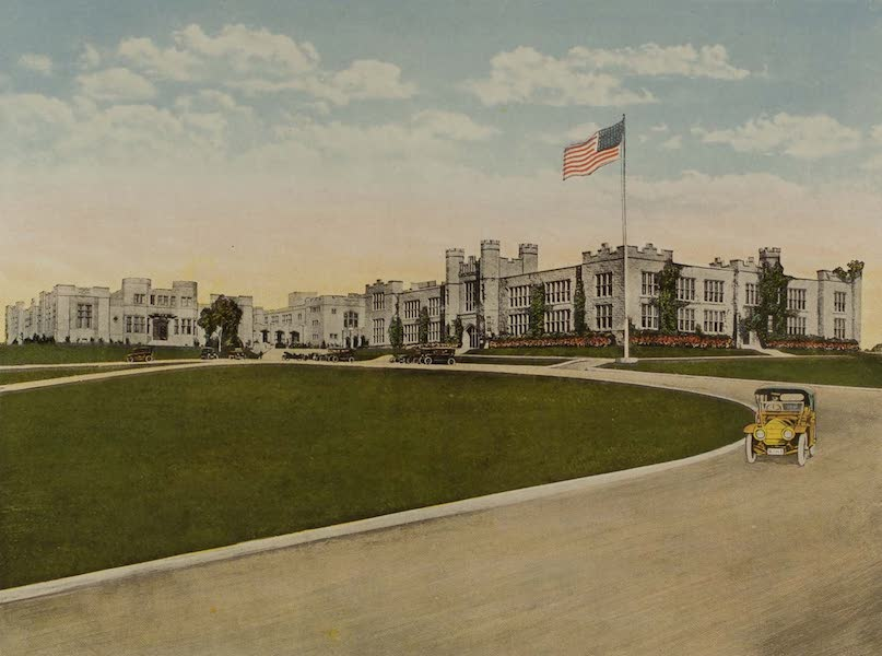 Souvenir from San Diego and Vicinity California - The High School (1915)