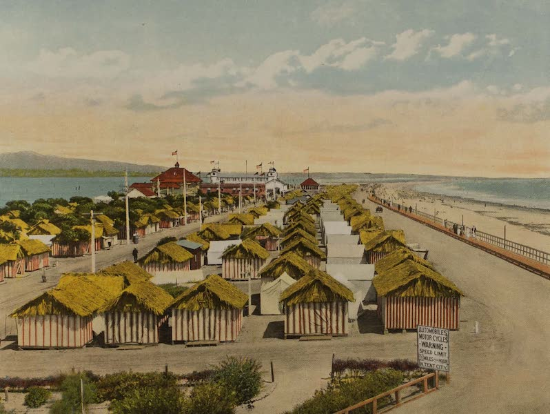 Souvenir from San Diego and Vicinity California - The Beach, Tent City, Coronado (1915)